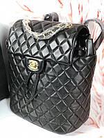 Модный женский рюкзак CHANEL черный (реплика)