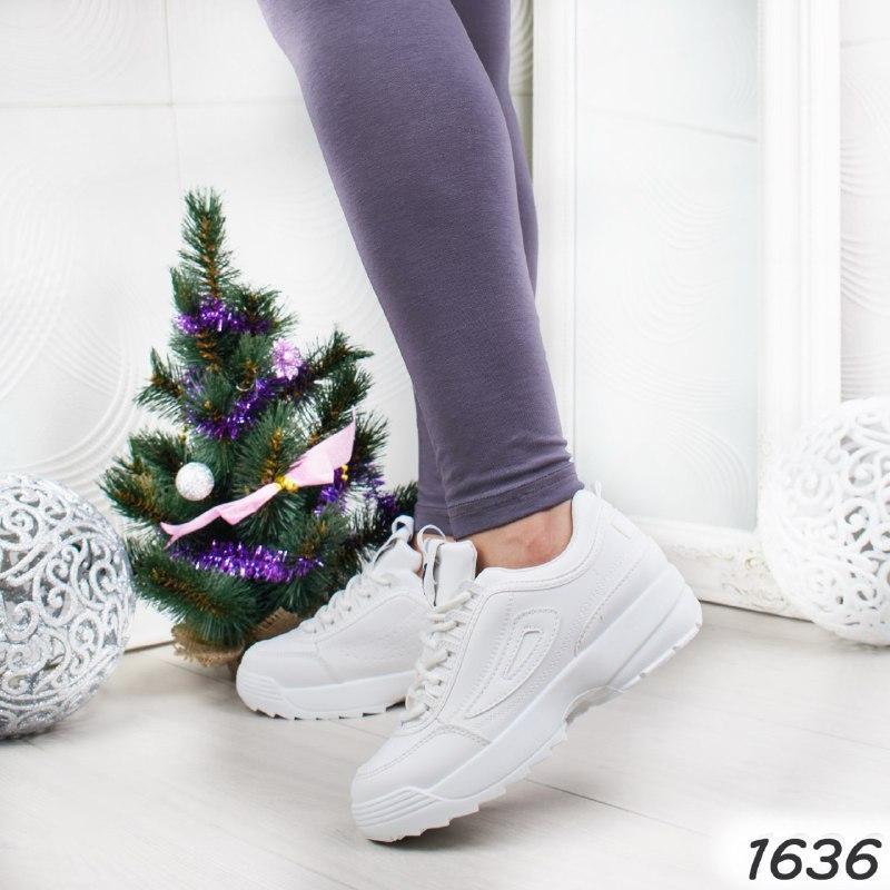 Белые женские кроссовки р 38