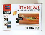 Преобразователь напряжения UKC 24V-220V 1000W автомобильный инвертор с 24В на 220В 1000Вт автоинвертор, фото 5