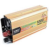 Преобразователь напряжения UKC 24V-220V 1000W автомобильный инвертор с 24В на 220В 1000Вт автоинвертор, фото 2