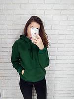 Толстовка женская на флисе зеленая стильная Oh yes, фото 1
