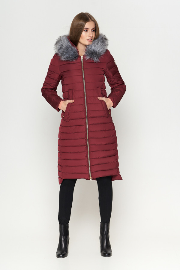 Зимняя длинная теплая куртка, фото 1