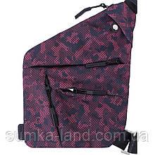 Черно-бордовая сумка-мессенджер через плечо Triangle 3л 30*22*4 см