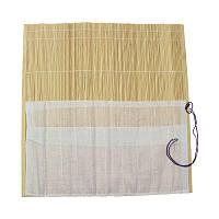 Пенал для пензлів, бамбуковий, натурального кольору + тканина 33 * 33см.