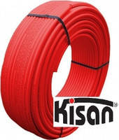 Металопластикова труба червона Kisan PE-RT/AL/PE 16х2,0