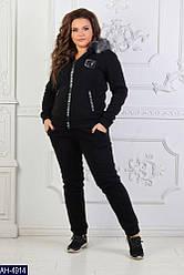 Костюм спортивный женский теплый трехнитка Турция с капюшоном с мехом размеры S M L