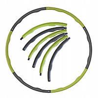 Обруч массажный Hula Hoop SportVida 100 см 1.2 кг SV-HK0153 Grey/Green