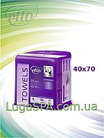 Полотенца нарезные 40х70 соты (50 шт/уп.), Еtto