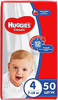 "Подгузники ""Huggies Classic"" 4 (7-18 кг) 50 шт. , фото 1"