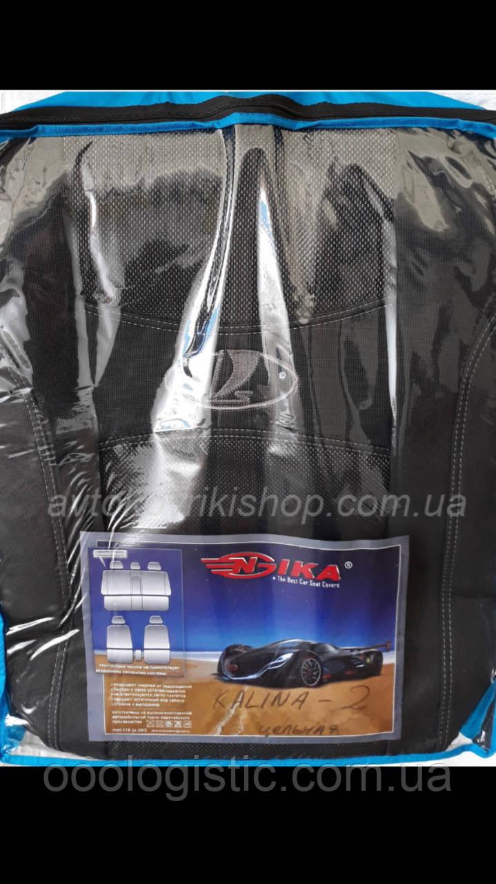 Авто чехлы Lada Калина II 2013- (цельная) Nika
