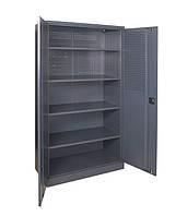 Металлический шкаф с перфорацией на задней стенке и дверях АМК-800/4п-п 1800х800х500 мм