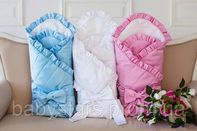 конверты одеяла на выписку для новорожденных