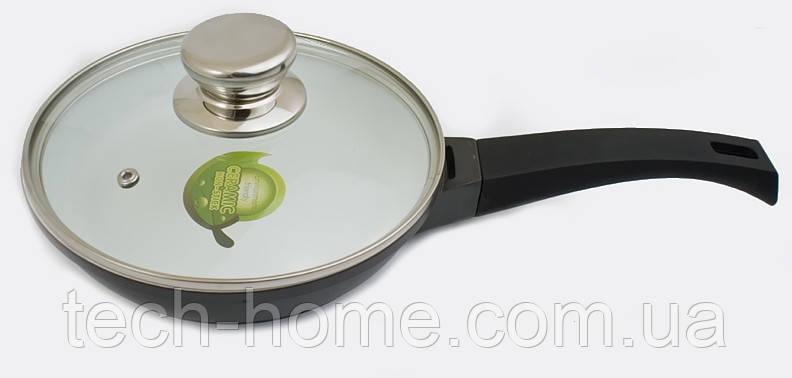 Cковорода с керамически антипригарным покрытием и крышкой Oscar Cooks Austria MR 108 24cm
