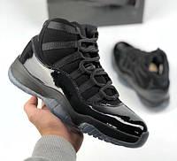 Air Jordan 11 Retro Cap and Gown   кроссовки мужские  черные   осенние весенние 776d59a8550