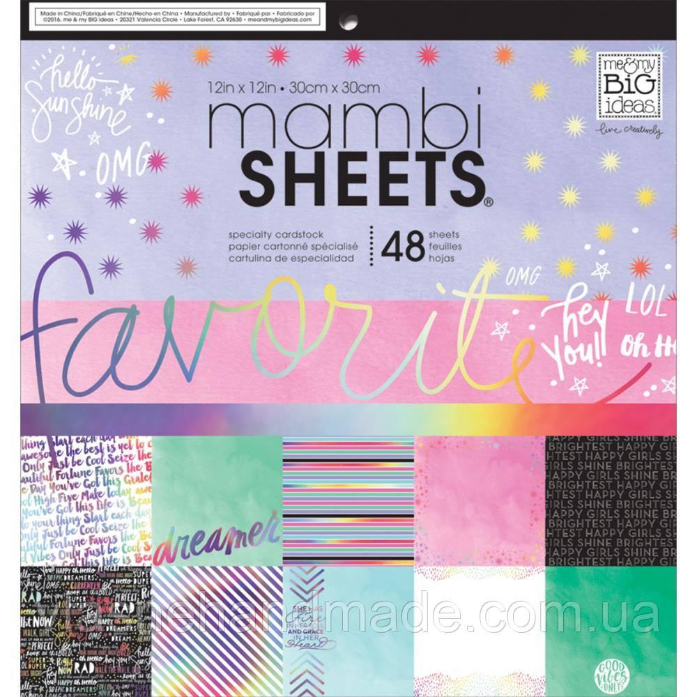 Набір одностороннього паперу - Rainbow Foil - Mambi - 30x30 Ціна за пів набору!!!