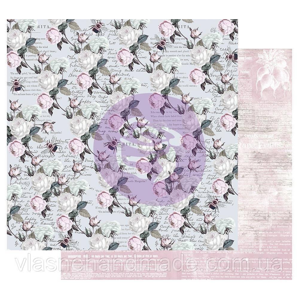 Папір двосторонній - Buzz Words - Poetic Rose - Prima Marketing - 30х30