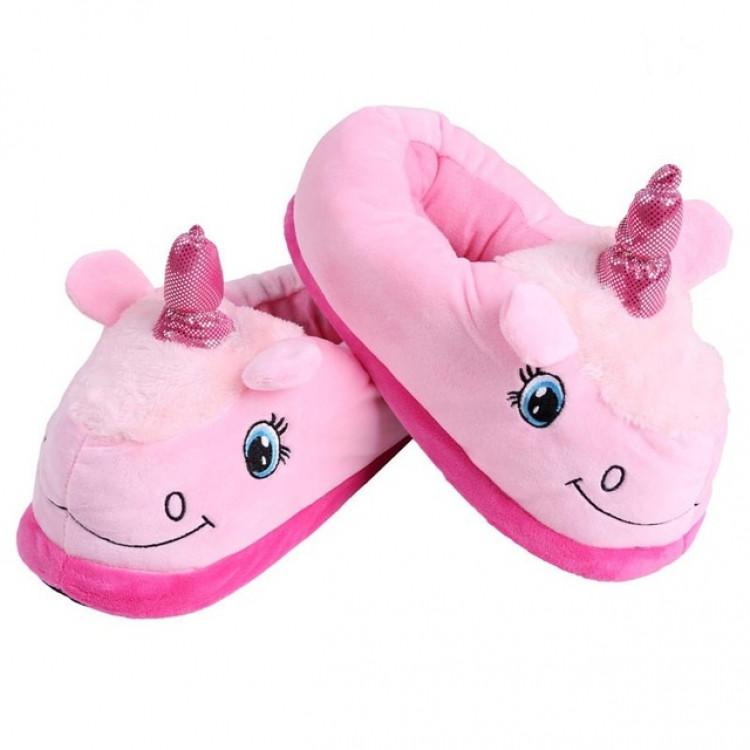 Домашние тапки Единорог с задниками (Розовый)