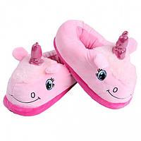 Домашние тапки Единорог с задниками (Розовый), фото 1