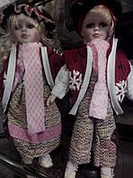 Набор фарфоровых коллекционных кукол мальчик и девочка,40см