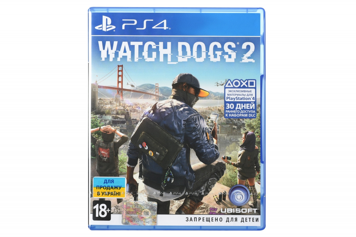 Диск Watch Dogs 2 (Blu-ray, Russian version) для PS4