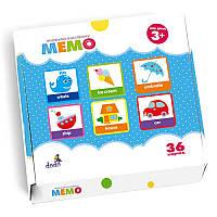 Настольная игра Мемо Изучаем английский (Вивчаємо англійську) Додо / Dodo