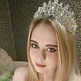 Высокая корона, диадема, тиара в серебре для девочки,  высота 8 см., фото 2
