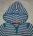 Кофта хлопковая с капюшоном в полоску (QuadriFoglio, Польша), фото 2