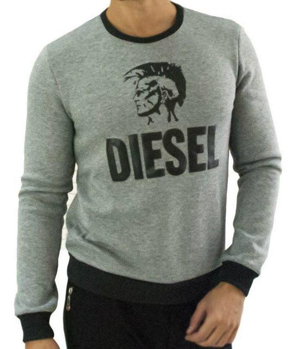 Мужской свитшот Diesel трехнитка на флисе