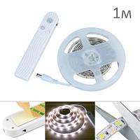 LED IP65 лента с датчиком движения, подсветка для кухни, шкафа 1м