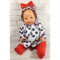 """Комплект """"Минни Маус"""" - одежда и обувь для кукол типа Baby Born"""