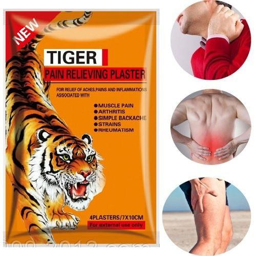 Знеболюючий пластир з витяжкою кістки тигра (4шт)