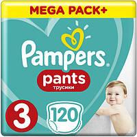 Подгузники-трусики Pampers Pants Размер Размер 3 (Midi) 6-11 кг, Впитывающие Каналы, 120 подгузников