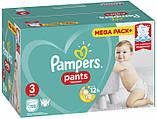 Подгузники-трусики Pampers Pants Размер Размер 3 (Midi) 6-11 кг, Впитывающие Каналы, 120 подгузников, фото 3