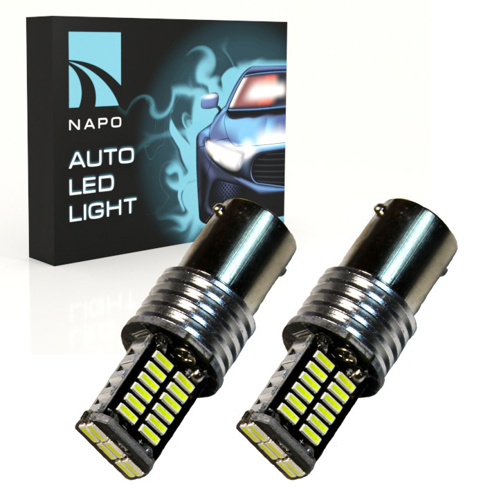 Лампа светодиодная NAPO LED 1157-4014-30SMD-CAN P21/5W BA15D цвет свечения белый 2 шт