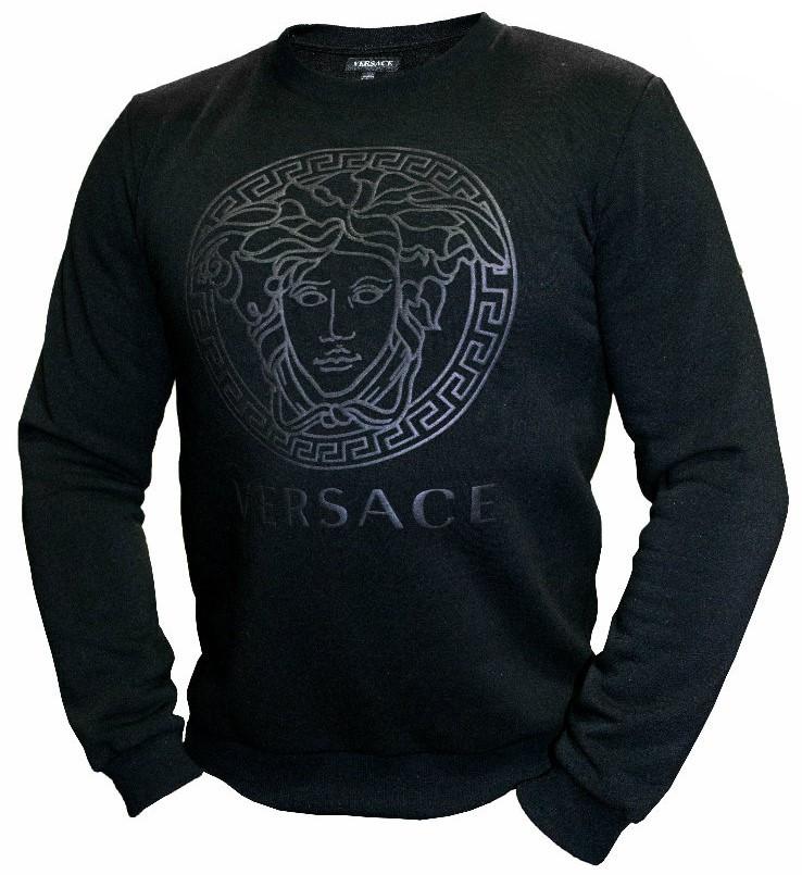 Мужской свитшот Versace трехнитка на флисе