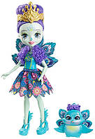 Кукла с питомцем Enchantimals Patter Peacock Doll and Flap! Оригинал! Уценка!