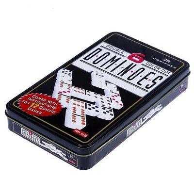 Настольная игра Домино (в металлической коробке)
