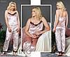 Женская пижама велюровая (размер 48-50, 50-52)