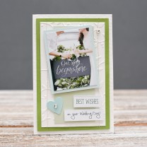Открытка стандартная Best wishes on your wedding day