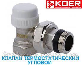 """Клапан термостатичний 1/2"""" кутовий М30*1.5 KOER"""