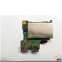 Плата з роз'ємами USB, card reader, для ноутбука Sony PCG-4Q3L, Б/В.В хорошому стані. без пошкоджень.