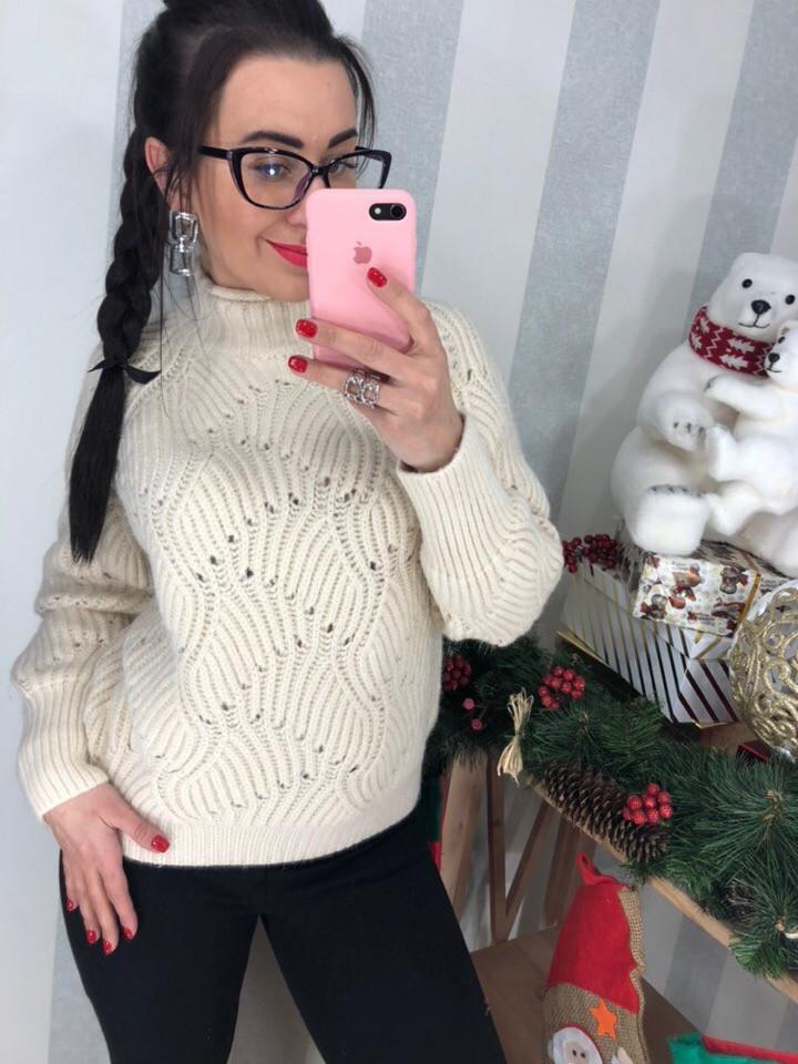 Женский мягкий свитер (Фабричный Китай )  Код 0304