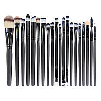 Набір пензликів для макіяжу SUNROZ Makeup Brush Kit 20 шт. Чорний (SUN2918)