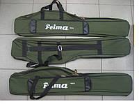 Чехол рыболовный Feima 1,3 (зеленый) под катушку (2 отдела) полужесткий