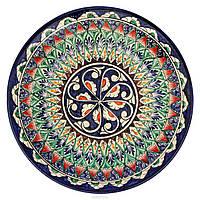 Тарелка ручная роспись 23 см (Риштан). Узбекская Тарелка
