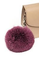 Брелок на сумочку з натурального хутра (польський кролик) в десяти кольорах. Бордо світлий.