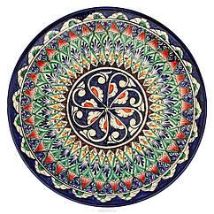 Тарілка чайна 15 см (Риштан). Ручний розпис. Узбецька тарілка порційна.