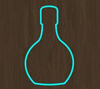 Вырубка кондитерская для пряника мастики марципана бутылка вино коньяк *8 см
