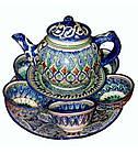 Чайный сервиз на 6 персон Риштан. Узбекский чайный сервиз., фото 2