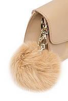 Брелок до сумочки з натурального хутра (польський кролик) в десяти кольорах. Беж/нюд.
